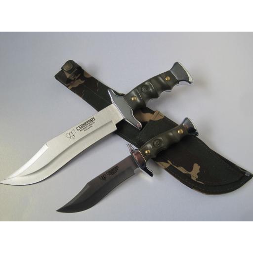201V Green ABS Piggyback Bowie Knife set