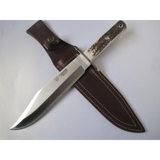 106C Cudeman Huge 15 Inch Stag Bowie Knife