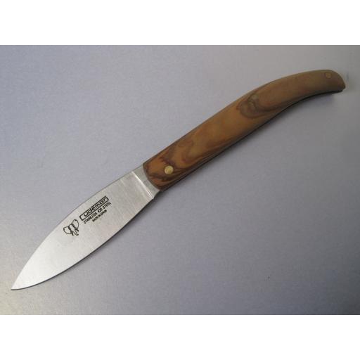 418L Cudeman Olive Wood Folding Bush Craft Knife