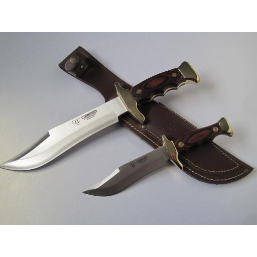 201R Cudeman Stamina Wood Piggyback Bowie Knife Set