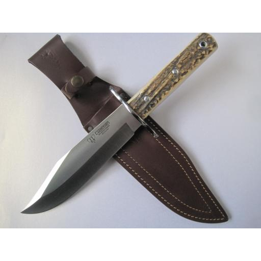 107C Cudeman Huge 13.25 Inch Stag Bowie Knife