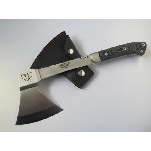 166B Cudeman Black Micarta Tonka Survival Axe