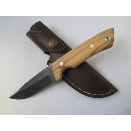 157L Cudeman Olive Wood Bushcraft Knife