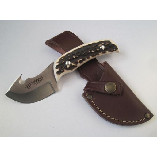 137C Cudeman Stag Horn Guthook Skinning Knife
