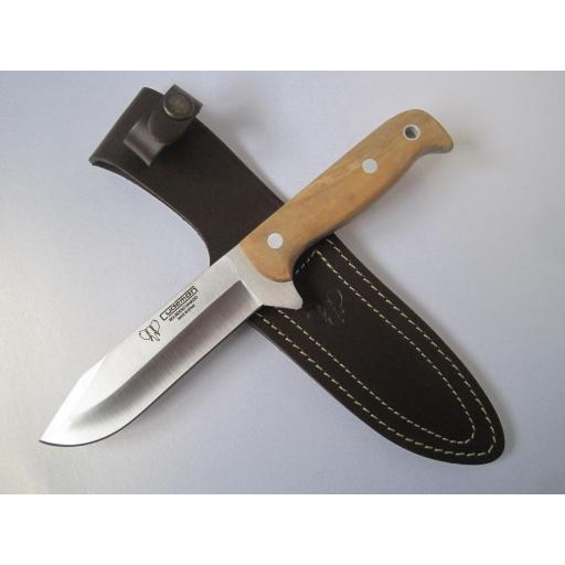 119L Cudeman Olive Wood Hunting Knife