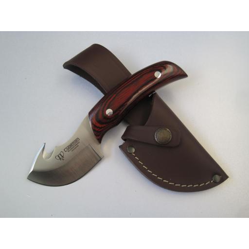 137R Cudeman Stamina Wood Guthook Skinning Knife