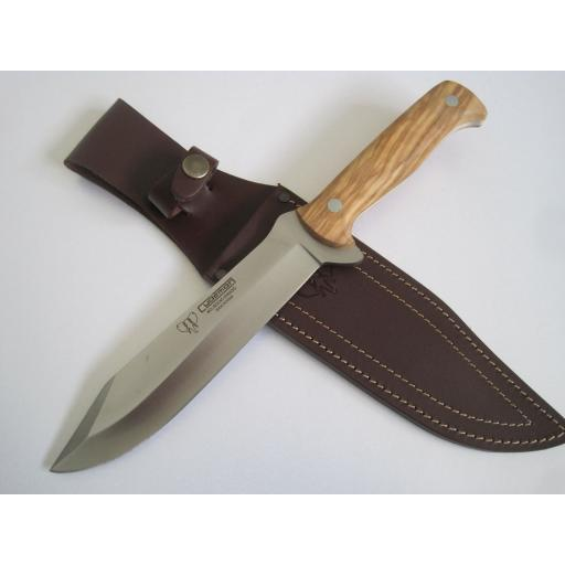 117L Cudeman Olive Wood Hunting Knife