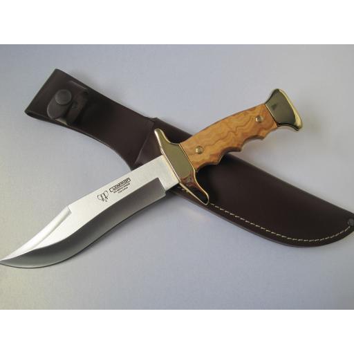 203L Cudeman Olive Wood Medium Bowie Knife