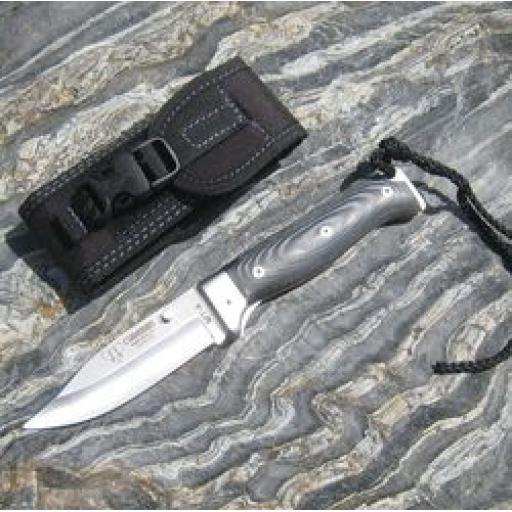 384M Cudeman MT4 Black Micarta Folding Bush Craft Knife